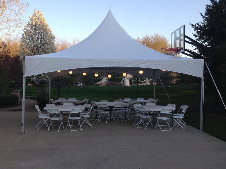 Use TV ads to promote tent rental information